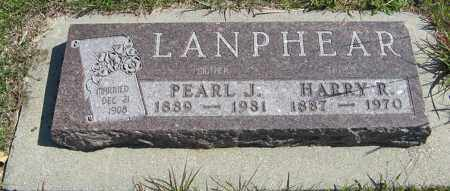 LANPHEAR, HARRY R. - Cedar County, Nebraska | HARRY R. LANPHEAR - Nebraska Gravestone Photos