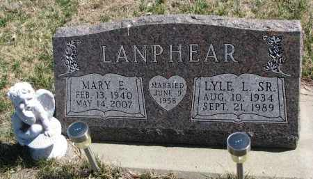 LANPHEAR, MARY E. - Cedar County, Nebraska | MARY E. LANPHEAR - Nebraska Gravestone Photos