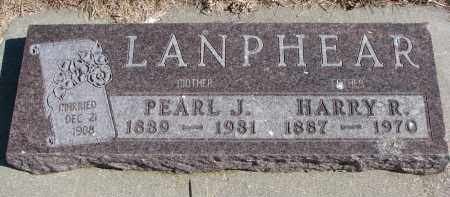 LANPHEAR, HARRY R. - Cedar County, Nebraska | HARRY R. LANPHEAR - Nebraska Gravestone Photos