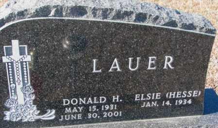 HESSE LAUER, ELSIE - Cedar County, Nebraska   ELSIE HESSE LAUER - Nebraska Gravestone Photos