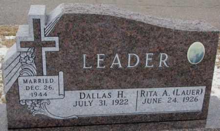 LEADER, RITA A. - Cedar County, Nebraska   RITA A. LEADER - Nebraska Gravestone Photos