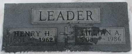 LEADER, LILLIAN A. - Cedar County, Nebraska | LILLIAN A. LEADER - Nebraska Gravestone Photos
