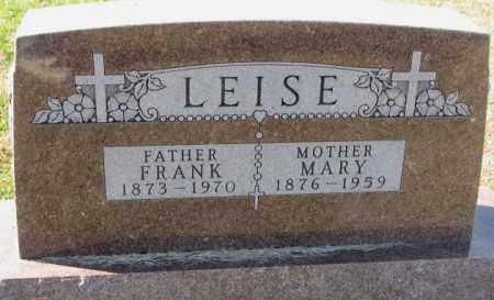 LEISE, FRANK - Cedar County, Nebraska | FRANK LEISE - Nebraska Gravestone Photos