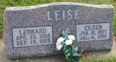 LEISE, LEONARD - Cedar County, Nebraska | LEONARD LEISE - Nebraska Gravestone Photos