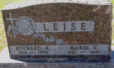 LEISE, RICHARD A. - Cedar County, Nebraska   RICHARD A. LEISE - Nebraska Gravestone Photos