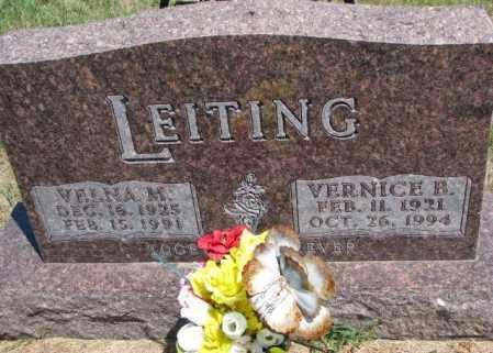 LEITING, VERNICE B. - Cedar County, Nebraska | VERNICE B. LEITING - Nebraska Gravestone Photos