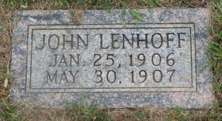 LENHOFF, JOHN - Cedar County, Nebraska | JOHN LENHOFF - Nebraska Gravestone Photos