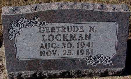 LOCKMAN, GERTRUDE N. - Cedar County, Nebraska   GERTRUDE N. LOCKMAN - Nebraska Gravestone Photos