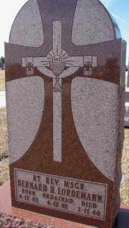 LORDEMANN, BERNARD H. (REV. MSGR) - Cedar County, Nebraska | BERNARD H. (REV. MSGR) LORDEMANN - Nebraska Gravestone Photos