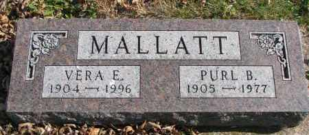 MALLATT, VERA E. - Cedar County, Nebraska   VERA E. MALLATT - Nebraska Gravestone Photos