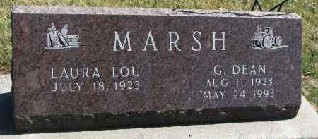 MARSH, LAURA LOU - Cedar County, Nebraska | LAURA LOU MARSH - Nebraska Gravestone Photos