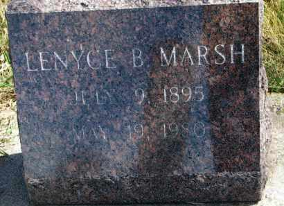 MARSH, LENYCE B. - Cedar County, Nebraska   LENYCE B. MARSH - Nebraska Gravestone Photos