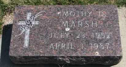MARSH, TIMOTHY D. - Cedar County, Nebraska   TIMOTHY D. MARSH - Nebraska Gravestone Photos