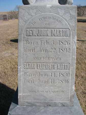 MARTIN, SARAH (CLOSEUP) - Cedar County, Nebraska | SARAH (CLOSEUP) MARTIN - Nebraska Gravestone Photos