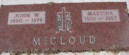 MCCLOUD, MARTINA - Cedar County, Nebraska | MARTINA MCCLOUD - Nebraska Gravestone Photos