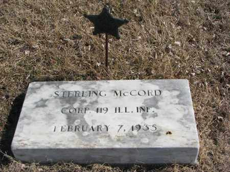 MCCORD, STERLING - Cedar County, Nebraska | STERLING MCCORD - Nebraska Gravestone Photos
