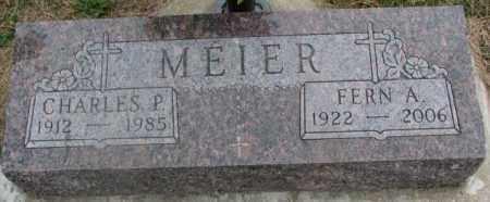 MEIER, CHARLES P. - Cedar County, Nebraska   CHARLES P. MEIER - Nebraska Gravestone Photos