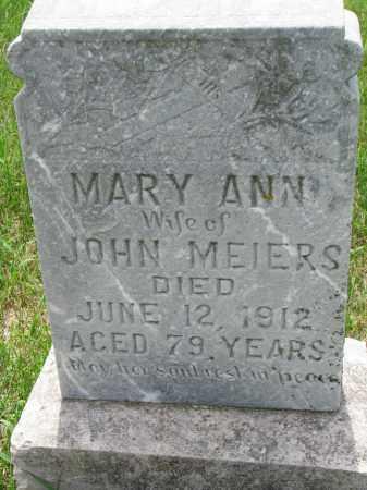 MEIERS, MARY ANN - Cedar County, Nebraska | MARY ANN MEIERS - Nebraska Gravestone Photos