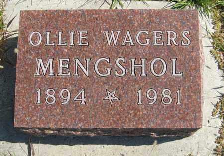MENGSHOL, OLLIE - Cedar County, Nebraska | OLLIE MENGSHOL - Nebraska Gravestone Photos