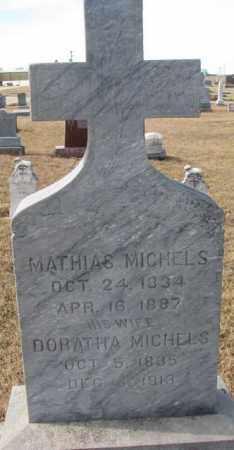 MICHELS, MATHIAS - Cedar County, Nebraska | MATHIAS MICHELS - Nebraska Gravestone Photos