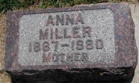 MILLER, ANNA - Cedar County, Nebraska | ANNA MILLER - Nebraska Gravestone Photos