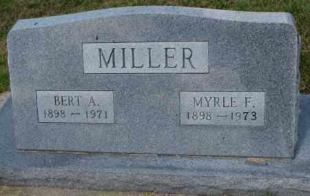 MILLER, BERT A. - Cedar County, Nebraska | BERT A. MILLER - Nebraska Gravestone Photos