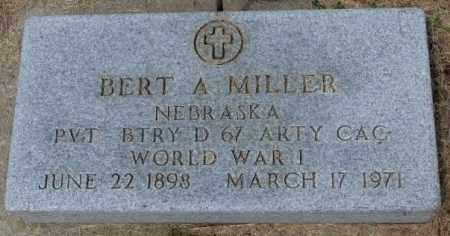 MILLER, BERT A. (WW I) - Cedar County, Nebraska | BERT A. (WW I) MILLER - Nebraska Gravestone Photos