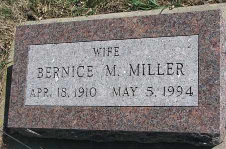MILLER, BERNICE M. - Cedar County, Nebraska   BERNICE M. MILLER - Nebraska Gravestone Photos