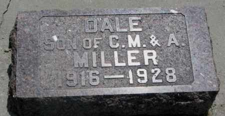 MILLER, DALE - Cedar County, Nebraska | DALE MILLER - Nebraska Gravestone Photos