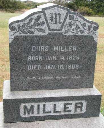 MILLER, DURS - Cedar County, Nebraska   DURS MILLER - Nebraska Gravestone Photos