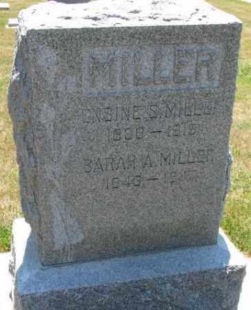 MILLER, SARAH A. - Cedar County, Nebraska | SARAH A. MILLER - Nebraska Gravestone Photos