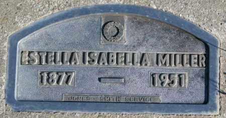 MILLER, ESTELLA ISABELLA - Cedar County, Nebraska | ESTELLA ISABELLA MILLER - Nebraska Gravestone Photos