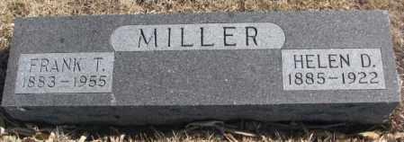 MILLER, FRANK T. - Cedar County, Nebraska | FRANK T. MILLER - Nebraska Gravestone Photos