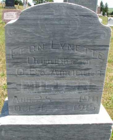 MILLER, FERN LYNETTE - Cedar County, Nebraska | FERN LYNETTE MILLER - Nebraska Gravestone Photos
