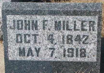 MILLER, JOHN F. - Cedar County, Nebraska   JOHN F. MILLER - Nebraska Gravestone Photos