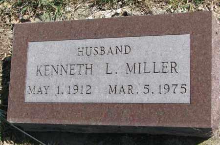MILLER, KENNETH L. - Cedar County, Nebraska   KENNETH L. MILLER - Nebraska Gravestone Photos