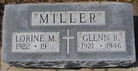 MILLER, GLENN R. - Cedar County, Nebraska | GLENN R. MILLER - Nebraska Gravestone Photos