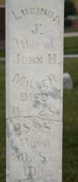 MILLER, LUCINDA J - Cedar County, Nebraska   LUCINDA J MILLER - Nebraska Gravestone Photos