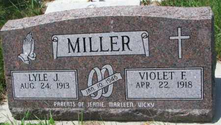 MILLER, VIOLET F. - Cedar County, Nebraska | VIOLET F. MILLER - Nebraska Gravestone Photos