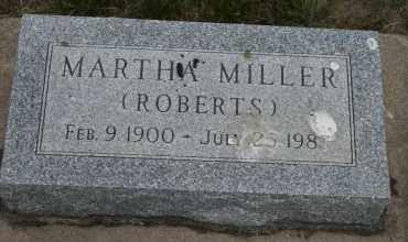 MILLER, MARTHA - Cedar County, Nebraska   MARTHA MILLER - Nebraska Gravestone Photos
