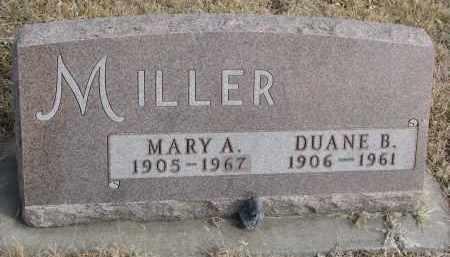 MILLER, MARY A. - Cedar County, Nebraska   MARY A. MILLER - Nebraska Gravestone Photos