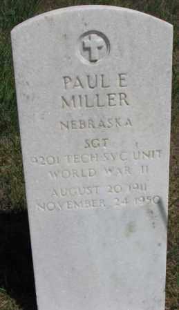 MILLER, PAUL E. - Cedar County, Nebraska | PAUL E. MILLER - Nebraska Gravestone Photos