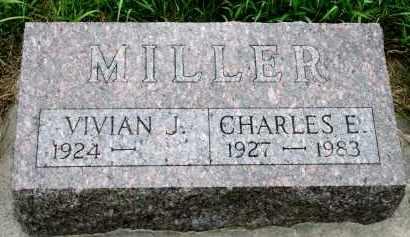 MILLER, CHARLES E - Cedar County, Nebraska   CHARLES E MILLER - Nebraska Gravestone Photos
