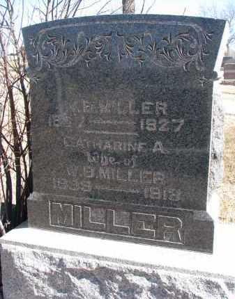 MILLER, CATHARINE A. - Cedar County, Nebraska | CATHARINE A. MILLER - Nebraska Gravestone Photos