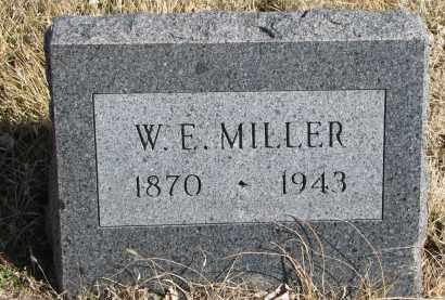 MILLER, W.E. - Cedar County, Nebraska   W.E. MILLER - Nebraska Gravestone Photos
