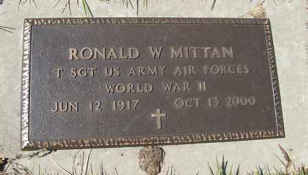MITTAN, RONALD W. (MILITARY MARKER) - Cedar County, Nebraska | RONALD W. (MILITARY MARKER) MITTAN - Nebraska Gravestone Photos