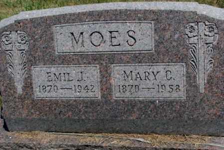 MOES, MARY C. - Cedar County, Nebraska   MARY C. MOES - Nebraska Gravestone Photos