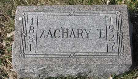 MORAN, ZACHARY T. - Cedar County, Nebraska   ZACHARY T. MORAN - Nebraska Gravestone Photos