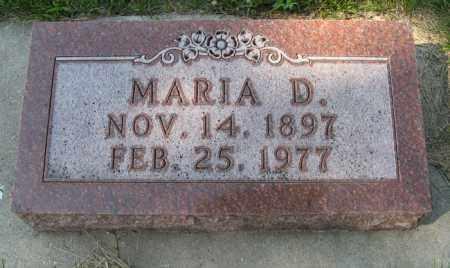 MORRIS, MARIA D. - Cedar County, Nebraska   MARIA D. MORRIS - Nebraska Gravestone Photos