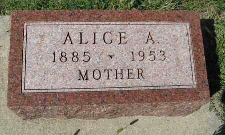 MORTEN, ALICE A. - Cedar County, Nebraska | ALICE A. MORTEN - Nebraska Gravestone Photos